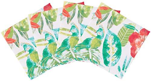 Arlee 4-pc. Lanai Cloth Napkins Set 4 Pc Set White/Green/red