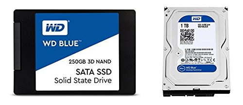 Review WD Blue 3D NAND 250GB SATA III SSD + WD Blue 1TB SATA III 7200 RPM Hard Drive Bundle