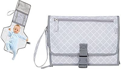 Diaper Organizer Clutch with Changing Pad - Stylish, High Quality, Free of BPA and Harmful Chemicals