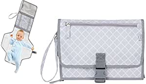Diaper Organizer Clutch with Changing Pad - Stylish,, Free of BPA and Harmful Chemicals