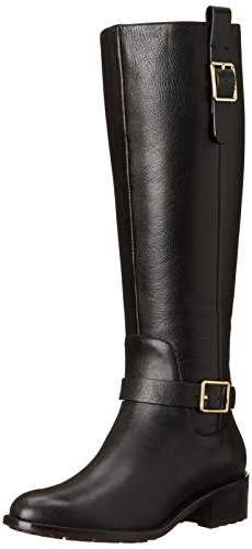 Cole Haan Women's Kenmare Tall Riding Boot, Black, 9 B ()