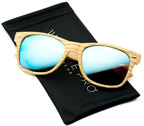 Print Reflective Color Rimmed Sunglasses