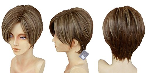 Xcoser Resident Cosplay Evil Leon Kennedy Short Brown Wig Halloween ()