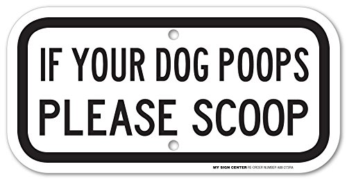 Poops Please Scoop Laminated Sign