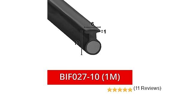 Suave y flexible sello de goma negro para mampara de ducha, para puertas plegables, se adapta a un canal de 6 mm BIF027: Amazon.es: Bricolaje y herramientas