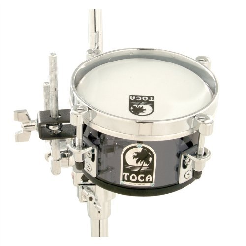 Toca T-408AS Acrylic 8'' Mini Timbales - Smoke by Toca