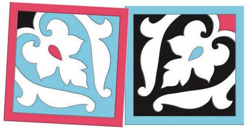 Mod Tile Flex Art Square Coaster Set (Evergreen Square Tile)