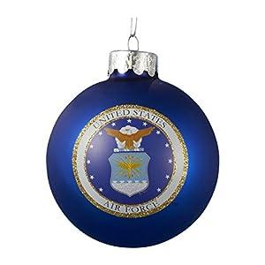Kurt Adler Glass U.S. Air Force Ball Ornament, 80mm