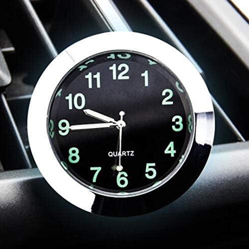 FSM-Espejos de revisión, Clip Puntero Reloj Decoración 1pc del Cuarzo del Reloj del automóvil Coche Seguir Adornos Vehículo Auto Interior Digital Aire Acondicionado Outlet (Color : Negro)