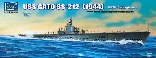 RCH20002 1:200 Riich USS Gato SS-212 Submarine 1944 with OS2U-3 Seaplane MODEL KIT