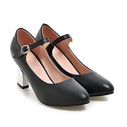 de de APL10522 uretano BalaMasa Senderismo Zapatos Mujer Baguette con Negro Bomba Estilo para zqnUp