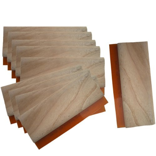 10 pcs 6.3 (16cm) Screen Printing Squeegee Silk Stencil Wooden Screen Ink Scraper 007303 Artdid gb1063