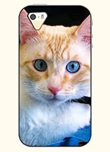 OOFIT Phone Case Design with Small Yellow Cat for Apple iPhone 5 5s 5g
