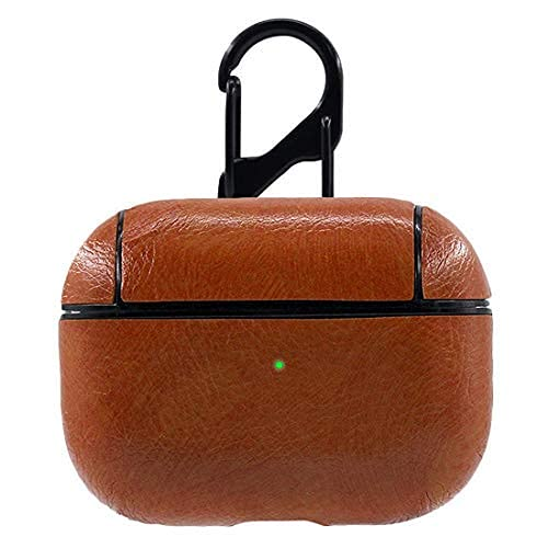 Shopkart Leather Skin Fit Hook Case Cover Compatible for Arpod Pro (Light Brown) Note:- We are not Selling Arpod or Earphones Buyers Will only get Arpod Pro Case