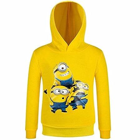 Minions amarillo niños, niñas sudadera con capucha sudadera con capucha sudadera con capucha para unisex jersey de Navidad: Amazon.es: Bebé