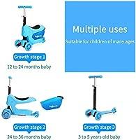 Baobë Scooters para niños Estilo 3 en 1, el Primer Scooter de Patinaje de 3 Ruedas para mis niños pequeños con Canasta de Almacenamiento de Juguetes