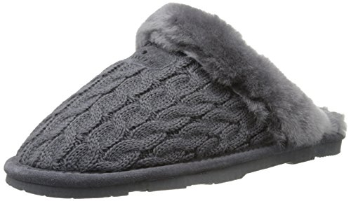 BEARPAW Women's Effie Mule, Charcoal, 8 M US]()