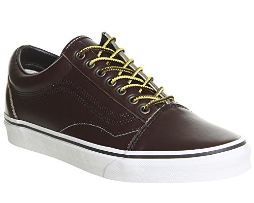 Adulto Rum Raisin U Leather Zapatillas Unisex Vans Skool Old XqnYA