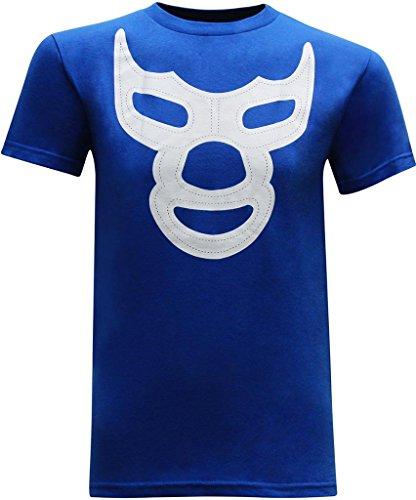 Demon Mens T-shirt (Blue Demon Mask Men's T-Shirt - L)