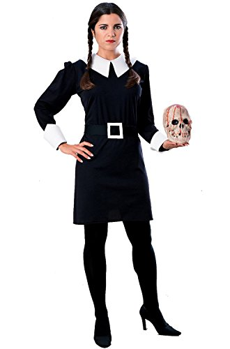 Wednesday Addams Family Adult Costume (Wednesday Addams Wigs)