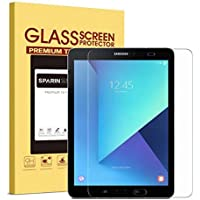 SPARIN Galaxy Tab S3 / Galaxy Tab S2 9.7 Screen Protector - S Pen Compatible/Tempered Glass / 2.5D Round Edge/Scratch Resistant/Bubble Free for Samsung Galaxy Tab S3 / Galaxy Tab S2 9.7 Inch