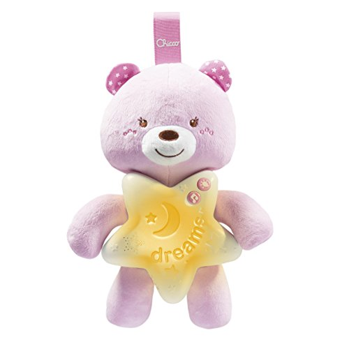 Painel ursinho bons sonhos, chicco, rosa, Chicco, Colorido