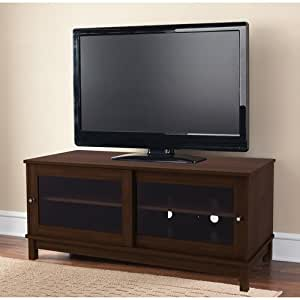 mainstays tv stand for tvs up to 55 multiple finishes cell phones accessories. Black Bedroom Furniture Sets. Home Design Ideas