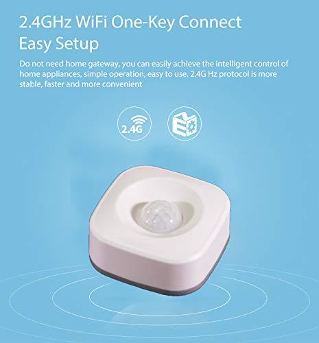 D/étecteur de Mouvement Infrarouge sans Fil WiFi Smart Home D/étecteur de Mouvement D/étecteur de s/écurit/é pour intrus Maison Office Fonctionne avec lapplication SmartLife