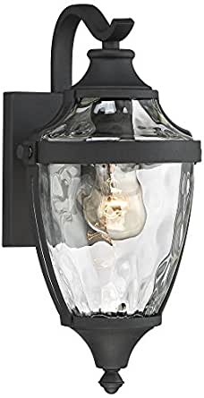 "Wilson 14 1/4"" High Textured Black Outdoor Wall Light"