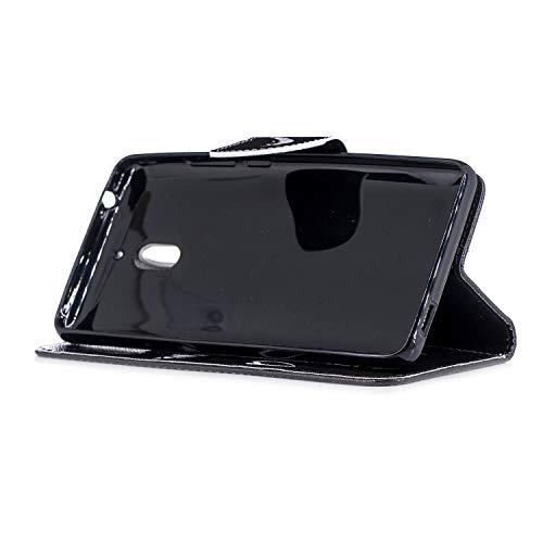 Nokia 2 PU Luxe Etui pour 1 2 Wallet Leather Cas Nokia 2018 Téléphone Pochette Nokia 2 Coque Housse Cover de Housse Nokia BONROY Case 2 Folio 1 sourire Magnétique Stand Coque Rabat 2018 Cuir Protection à gvB6znn
