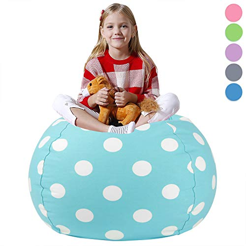 - Aubliss Stuffed Animal Bean Bag Storage Chair, Beanbag Covers Only for Organizing Plush Toys. Turns into Bean Bag Seat for Kids When Filled. Premium Cotton Canvas. 38