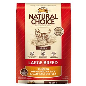 Nutro Large Breed Senior Chicken Whole Brown Rice & Oatmeal Formula - 30 lbs
