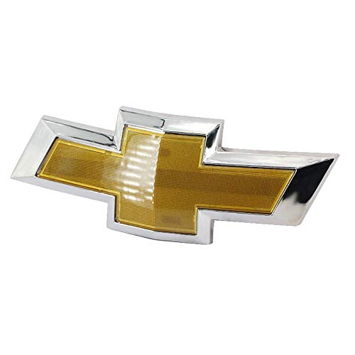 Front Bumper Emblem - Guzetop Front Bumper Emblem Chrome Grille Badge Grill Sign Symbol Logo for 2011-2014 Chevy Cruze Gold