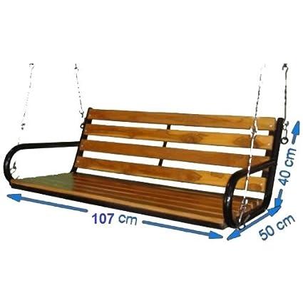 Kaushalendra Garden Zula Wooden Hanging Swing Teak Set 107 cm.