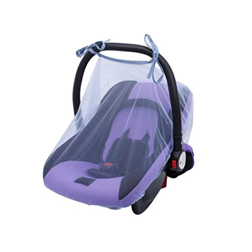(YJYdada Baby Crib Seat Mosquito Net Newborn Curtain Car Seat Insect Netting Canopy Cover (Blue))