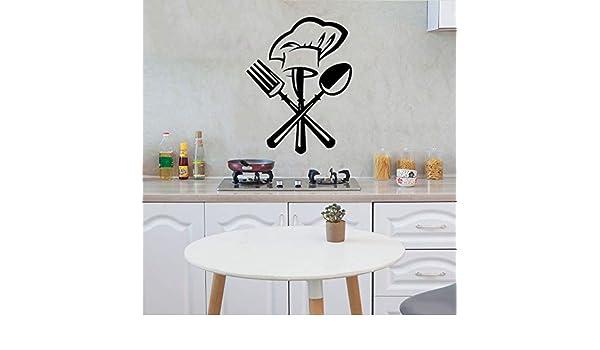 Pvc extraíble Chef Cubiertos Tenedor Sombrero Sombrero ...