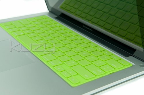 (Kuzy Solid Lime GREEN Keyboard Silicone Cover Skin for Apple MacBook Pro 13