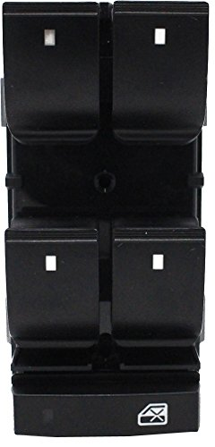 Front Left Driver Window Master Switch for 2007-2015 Chevy HHR Traverse Silverado 1500 2500HD 3500HD GMC Yukon Sierra Buick Enclave Compatible with 25789692 25951963 20945129 DWS-136