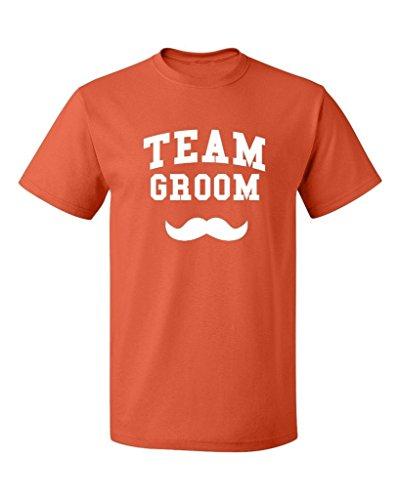 P&B Team Groom Men's T-Shirt, L, Orange