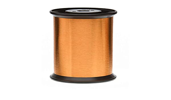 Remington Industries 42HFVP.25 42 AWG Heavy Build Magnet Wire 4 oz 0.0029 Diameter 12400 Length Heavy Formvar Copper Wire Amber