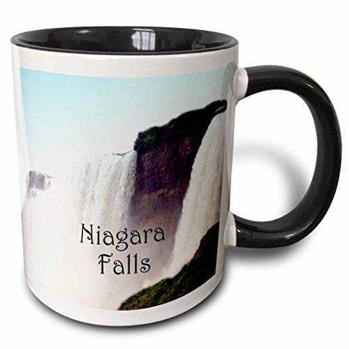 3dRose 9261_4 Niagara Falls - B - Two Tone Black Mug 11 oz -