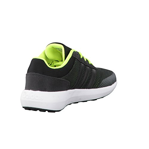 adidas Cloudfoam Race K, Zapatillas Unisex Niños Negro (Negbas/negbas/amasol)