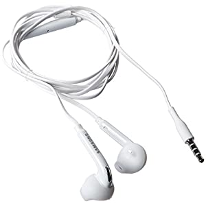 Samsung Wired Headset for Samsung Galaxy S6/S6 Edge – Non-Retail Packaging – White