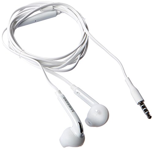 Samsung Wired Headset for Samsung Galaxy S6/S6 Edge - Non-Retail Packaging - White (Stereo Samsung Cables)