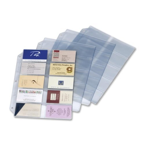 Cardinal Business Card Refill Sheets - Wholesale CASE of 20 - Cardinal Ring Binder Business Card Refill Sheets-Refill Pages,20 Cards/Page,200 Cap,8-1/2