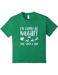 I'm gonna be naughty funny Santa reindeer Christmas t-shirt