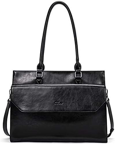 Briefcase Leather Vintage Business Shoulder