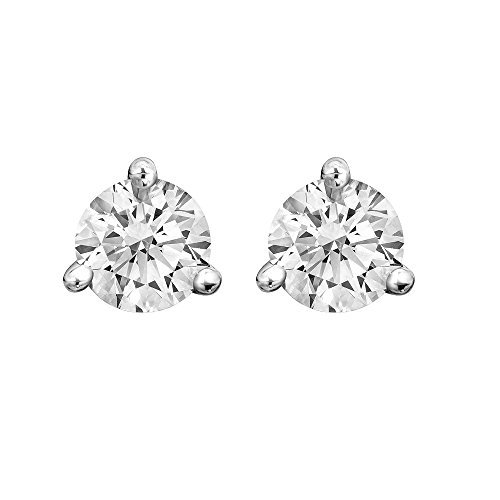 White Gold Three Prong (14K White Gold 3 Prong Diamond Stud Earrings (1/5 carat))