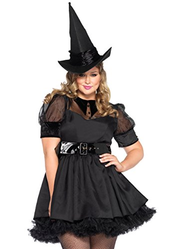 Leg Avenue Women's 3 Piece Bewitching Witch Costume, Black, Large
