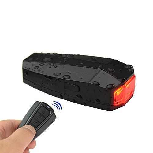 alarma inalámbrica para bicicleta luz trasera inteligente